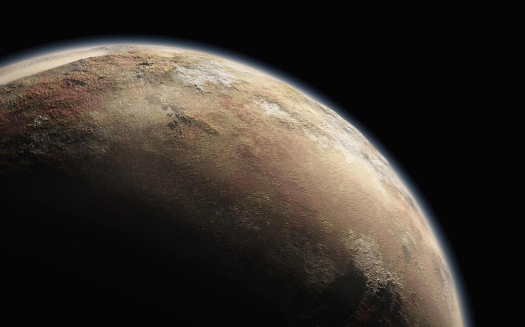 У Плутона обнаружены полярные шапки (6 фото)