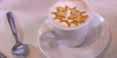 #видео   Ripples – принтер, который печатает изображения на кофейной пенке