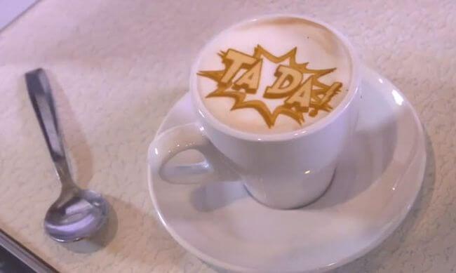 #видео | Ripples – принтер, который печатает изображения на кофейной пенке