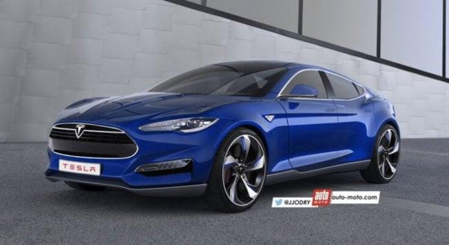 Tesla Model 3 - рендер