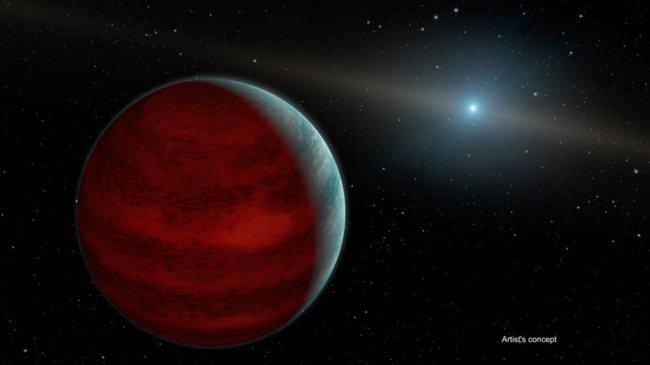 Обновленная газовая планета - иллюстрация