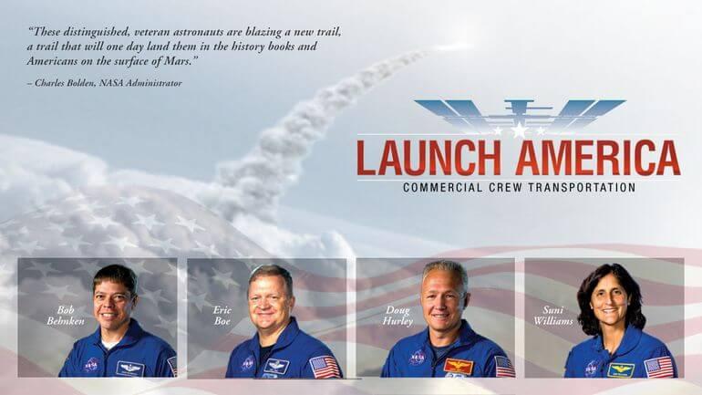 NASA отобрало астронавтов для первого коммерческого пилотируемого полета