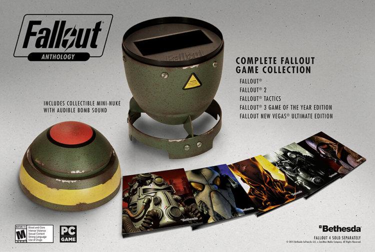 Антология серии Fallout будет продаваться в корпусе от ядерной бомбы
