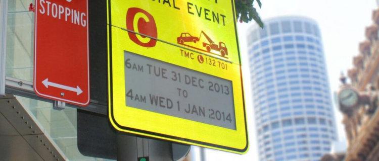 Электронный дорожный знак