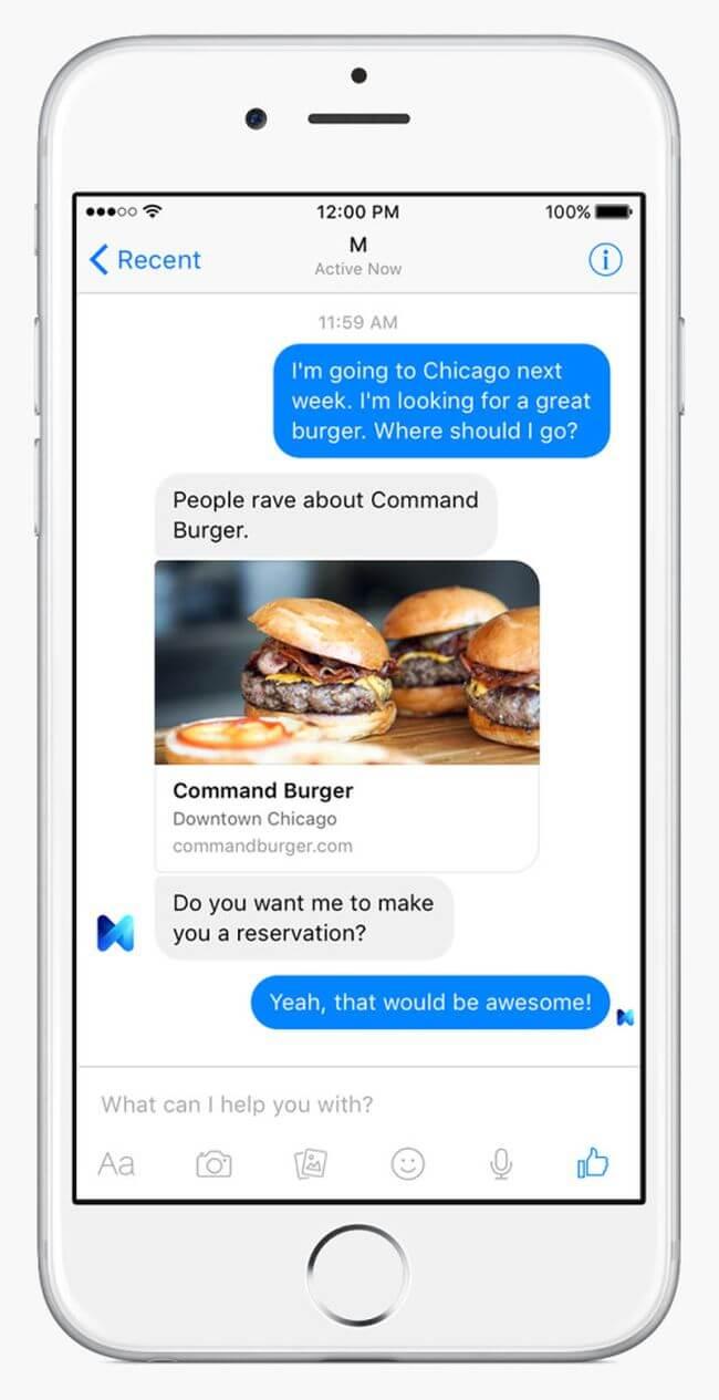 Facebook представила свой ответ виртуальным ассистентам Siri и Cortana