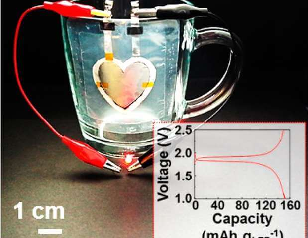 3D-печатная батарея в форме сердца
