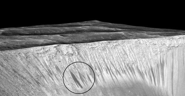 Жидкая вода на Марсе