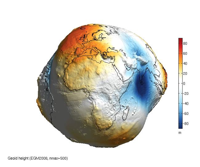 Земля без воды выглядела бы не так, как вы думаете
