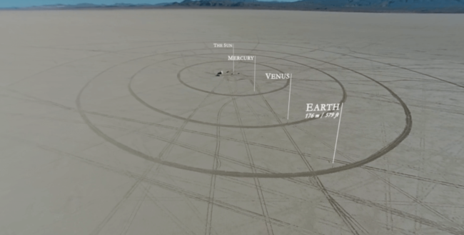 #видео дня | В пустыне построена масштабная модель Солнечной системы