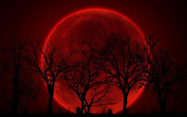 В воскресенье произойдёт редкое суперлунное затмение