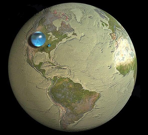 Как выглядела бы Земля без воды