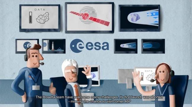 История миссии Rosetta на виде пластилинового мультфильма