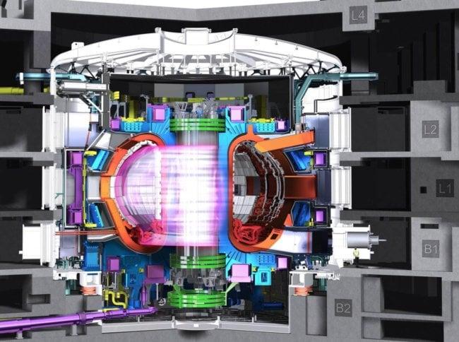 Термоядерные реакторы вырабатывают электроэнергию, нагревая плазму до 100 миллионов градусов по Цельсию, так что атомы водорода сливаются вместе, высвобождая энергию. Этот процесс отличается от ядерного деления в реакторах, которое работает путем расщепления атомов при температурах пониже.