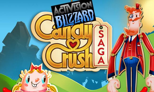 Издательство Activision Blizzard приобрело разработчиков Candy Crush Saga