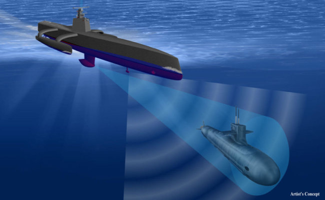 DARPA создало огромного дрона-охотника за субмаринами
