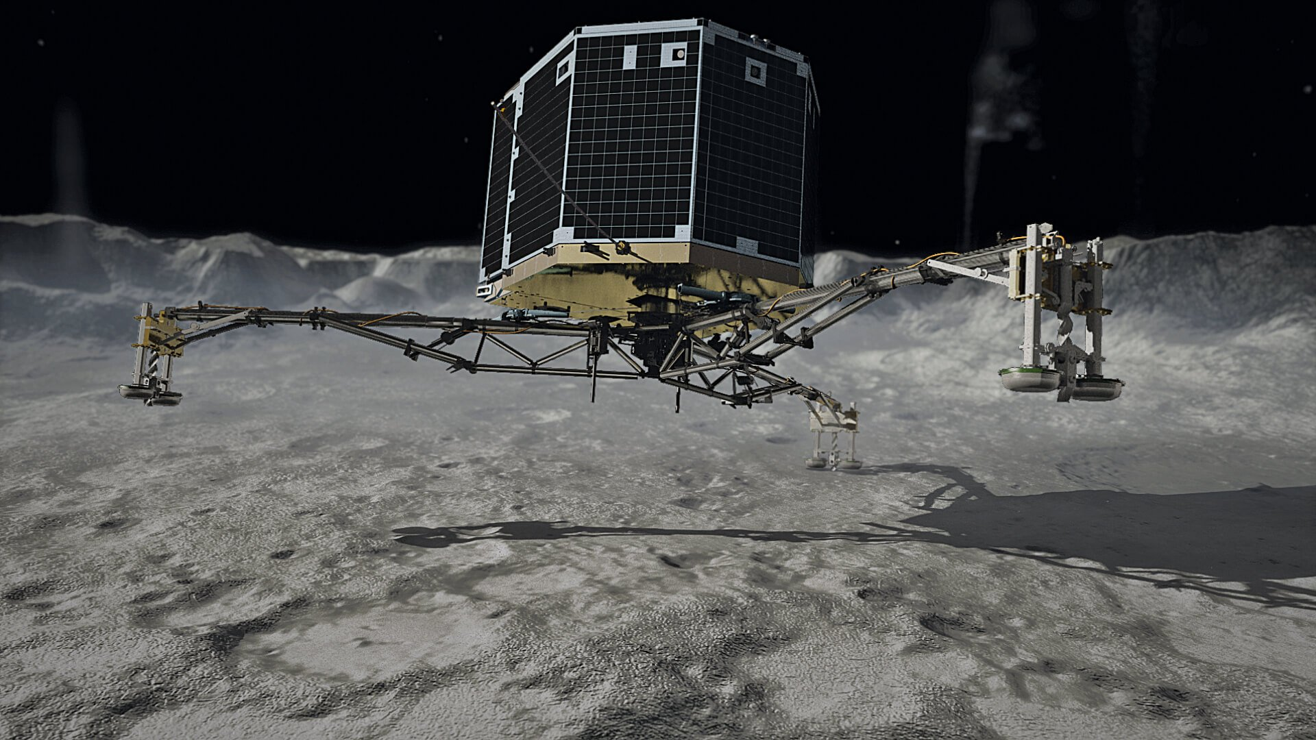 Down on the surface The moment Philae comet landing