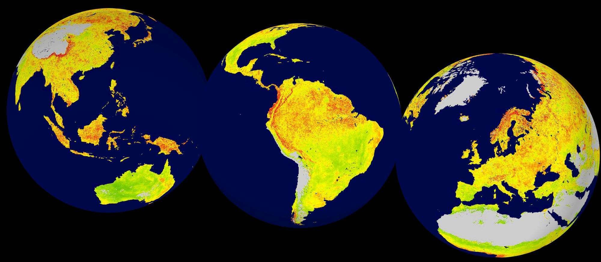 Nature: Новая карта показывает изменения климата