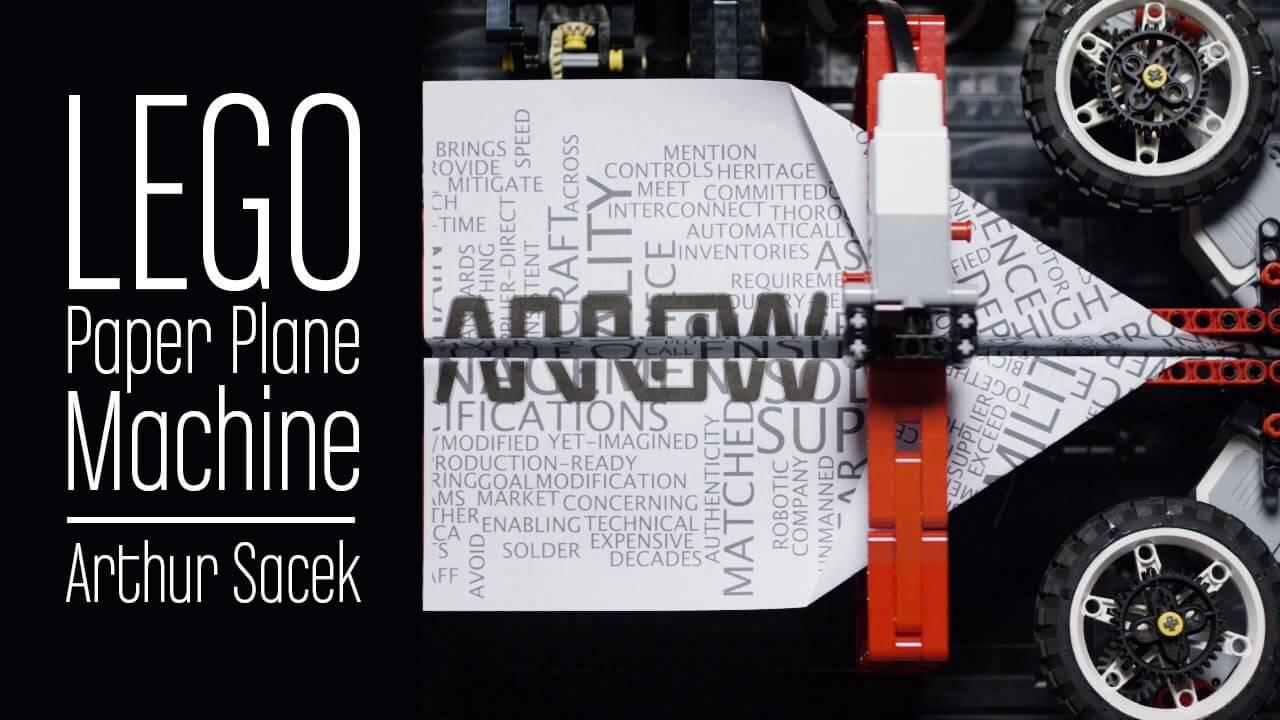 Невероятная LEGO-машина для создания бумажных самолётиков