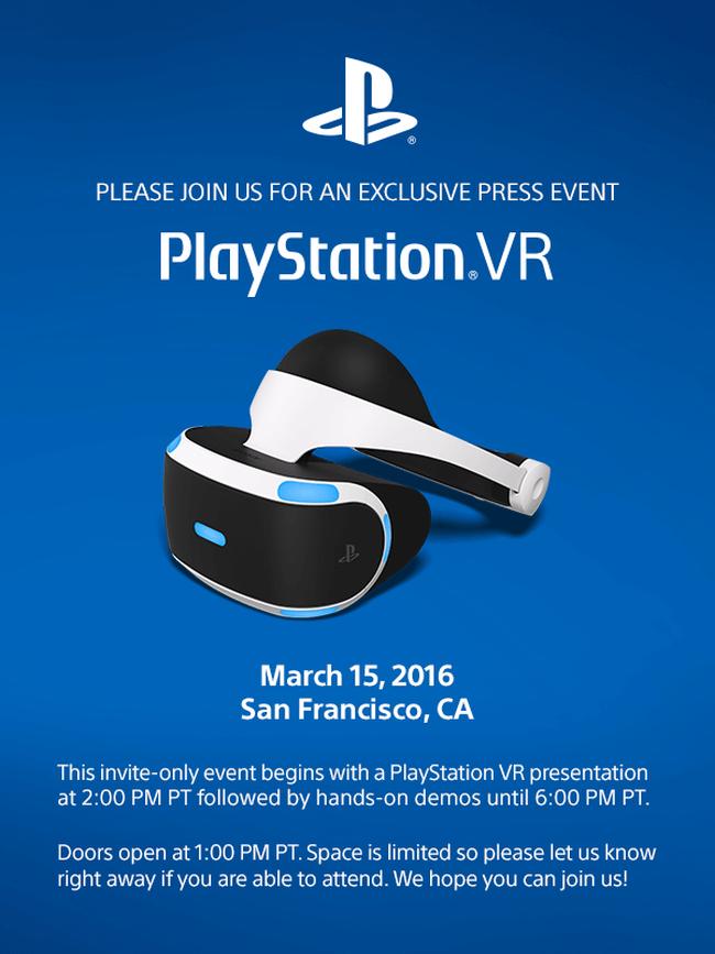 Sony готова раскрыть карты относительно гарнитуры PlayStation VR
