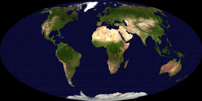 Почему карты космоса овальные?