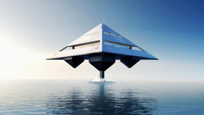 Удивительный концепт яхты, которая сможет парить над волнами