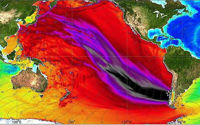 распространение цунами