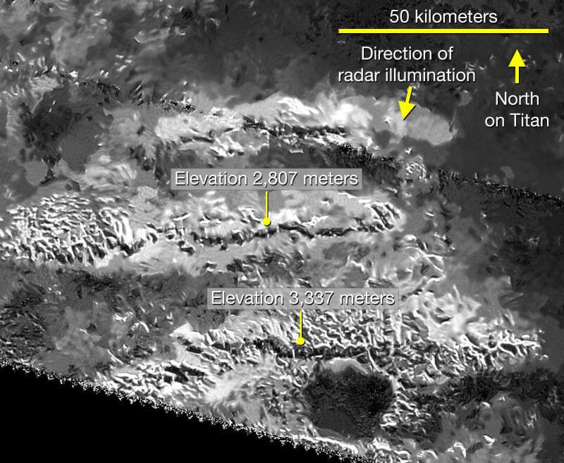 Гора на Титане