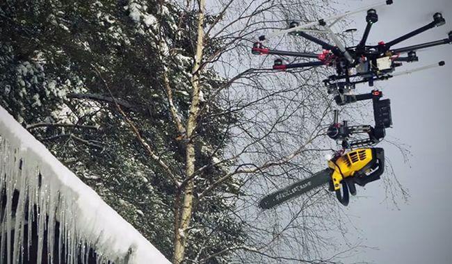 Что может быть страшнее дрона-убийцы с бензопилой?