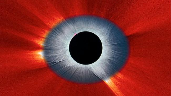 Солнечное затмение, которое выглядит, как Око Саурона