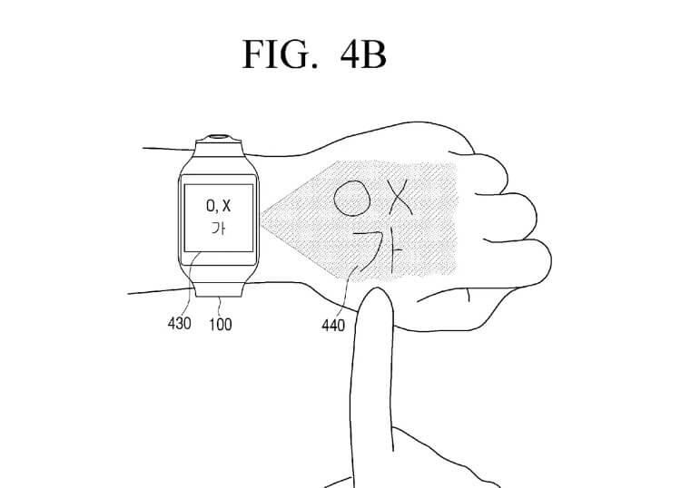 Эскиз проекционных часов Samsung