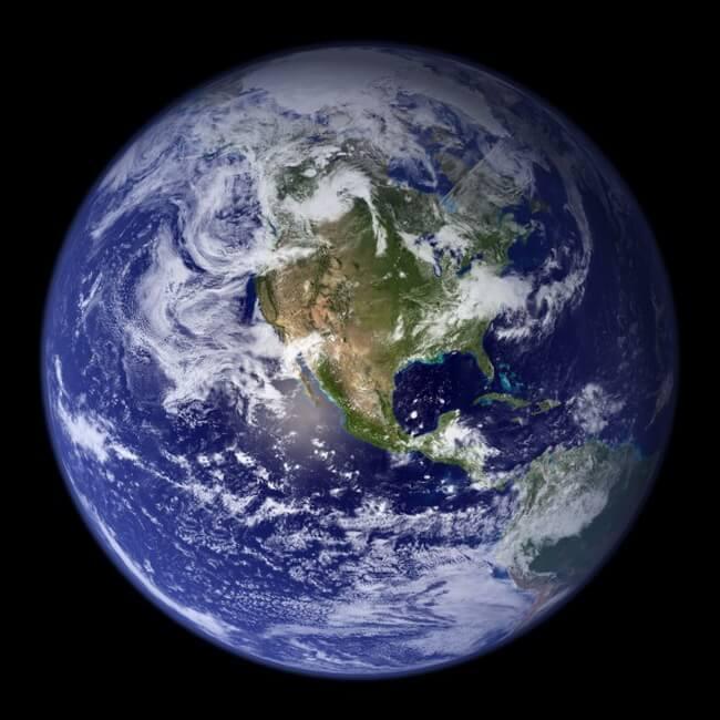 Earth-Western-Hemisphere