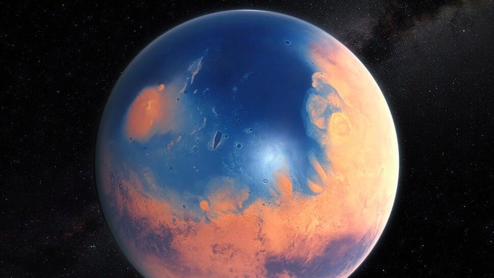 Два метеорита создали превосходные цунами наМарсе— Ученые