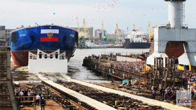 В Северной столице спущен на воду ледокол «Арктика»