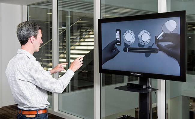Microsoft работает над интерфейсом, отслеживающим движение рук