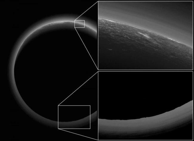 Снимки Плутона, сделанные «против Солнца», оказались очень информативными