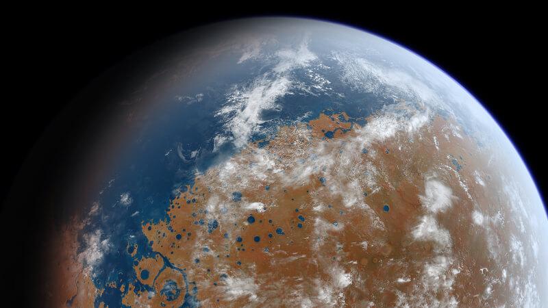 Марс был похож на землю