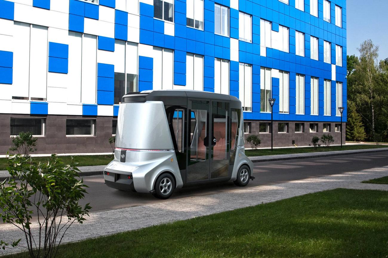 Российская компания Volgabus представила беспилотный модульный автобус