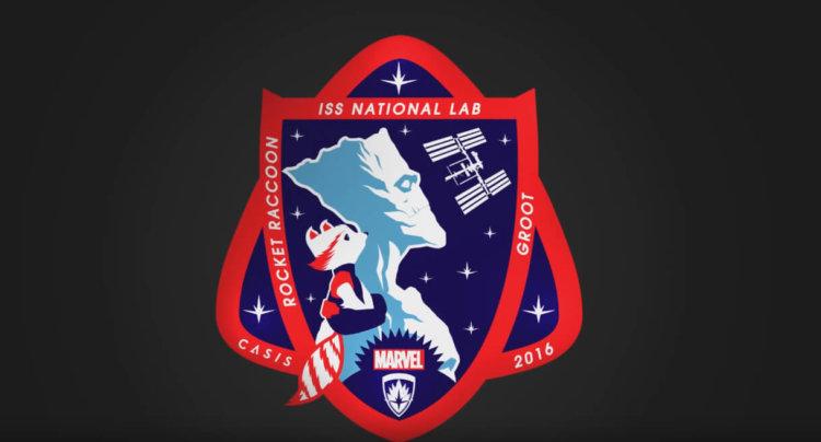 Енот Рокет и Грут появились эмблеме космической миссии агентства NASA