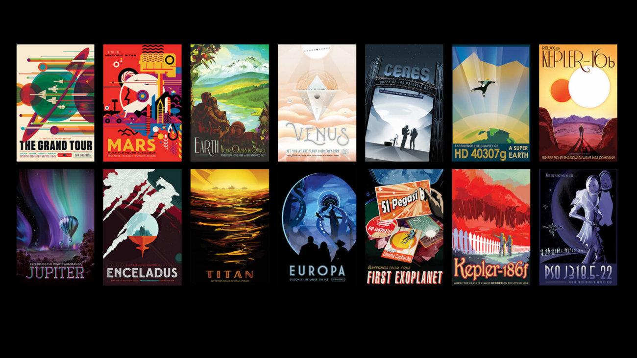 #галерея | В NASA нарисовали серию ретро-постеров о космическом туризме
