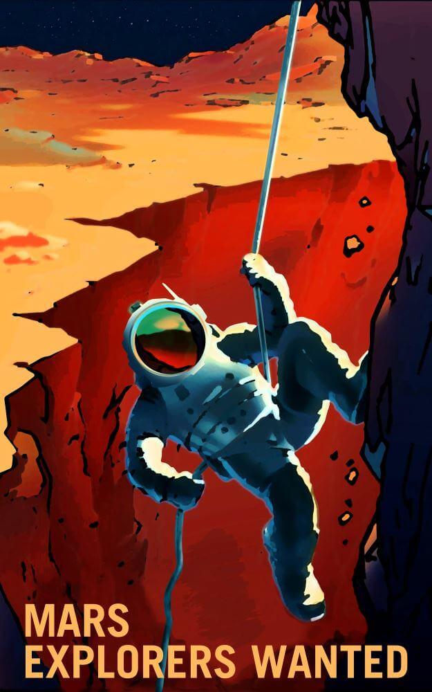 Показаны марсианские плакаты