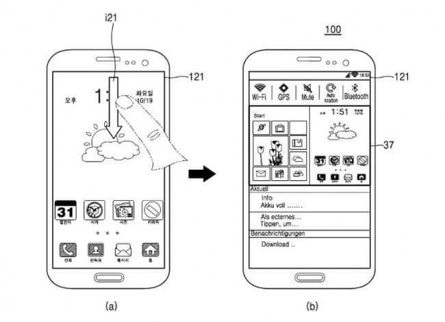 Samsung запатентовала смартфон, на котором параллельно работают Android и Windows