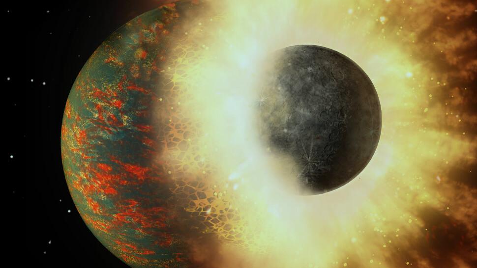 Ученые: жизнь на Земле обязана своим появлением планетарному столкновению