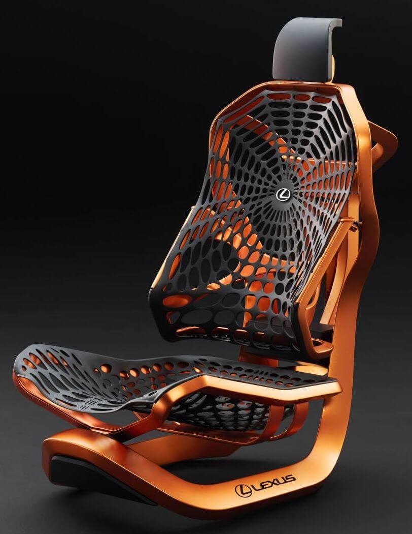 Инженеры Lexus создали автомобильное кресло из паутины
