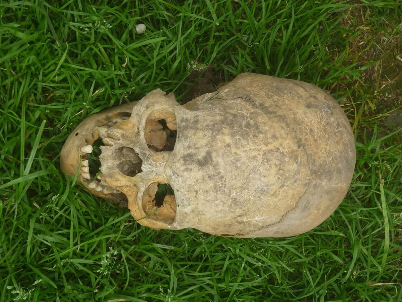 В Кабардино-Балкарии найдено захоронение людей с длинными черепами (2 фото)
