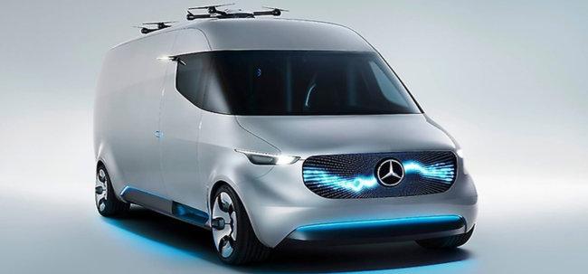 Vision Van от Mercedes — курьерский фургон будущего