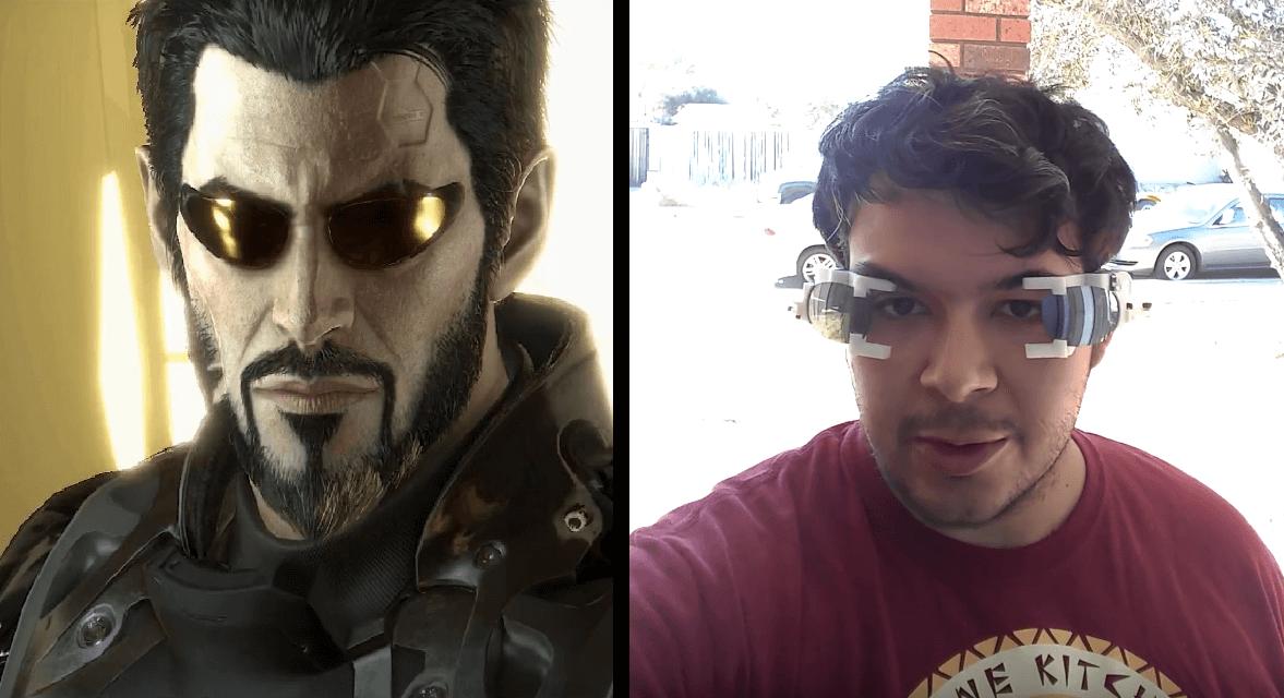 Энтузиаст смастерил себе очки из Deus Ex. Ну, почти