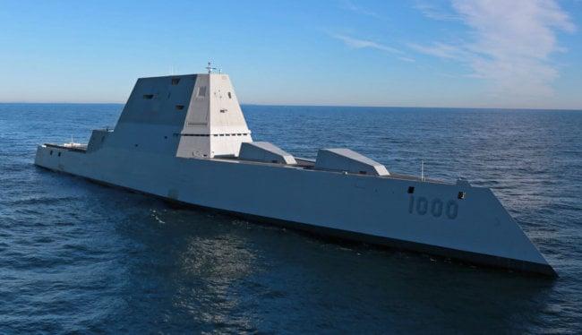 Американский эсминец USS Zumwalt снова сломался