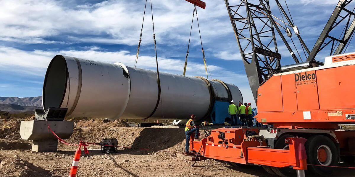 Hyperloop One строит трассу в Лас-Вегасе
