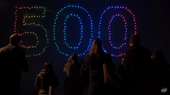 Компания Intel разработала дрон Shooting Star для организации световых шоу