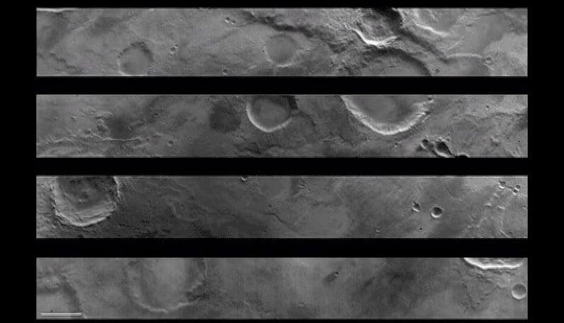 Марсианский аппарат сделал первые снимки